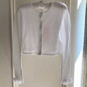 NWT - Girl's Iridescent Cropped Cardigan